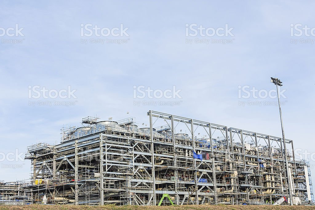 LNG Refinery Factory stock photo