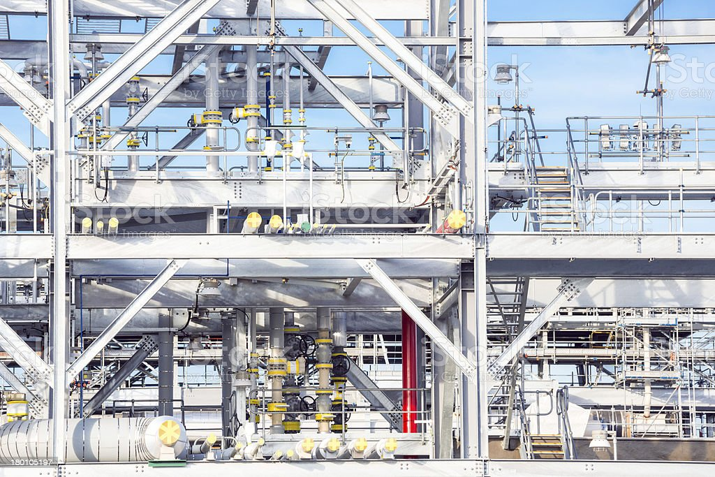 Refinery Factory plant stock photo