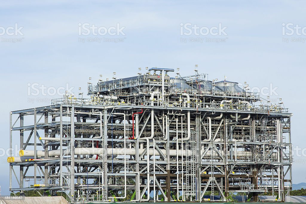 LNG Refinery Factory - Stock Image stock photo