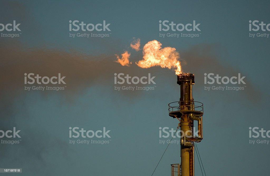 Refinery flare stock photo