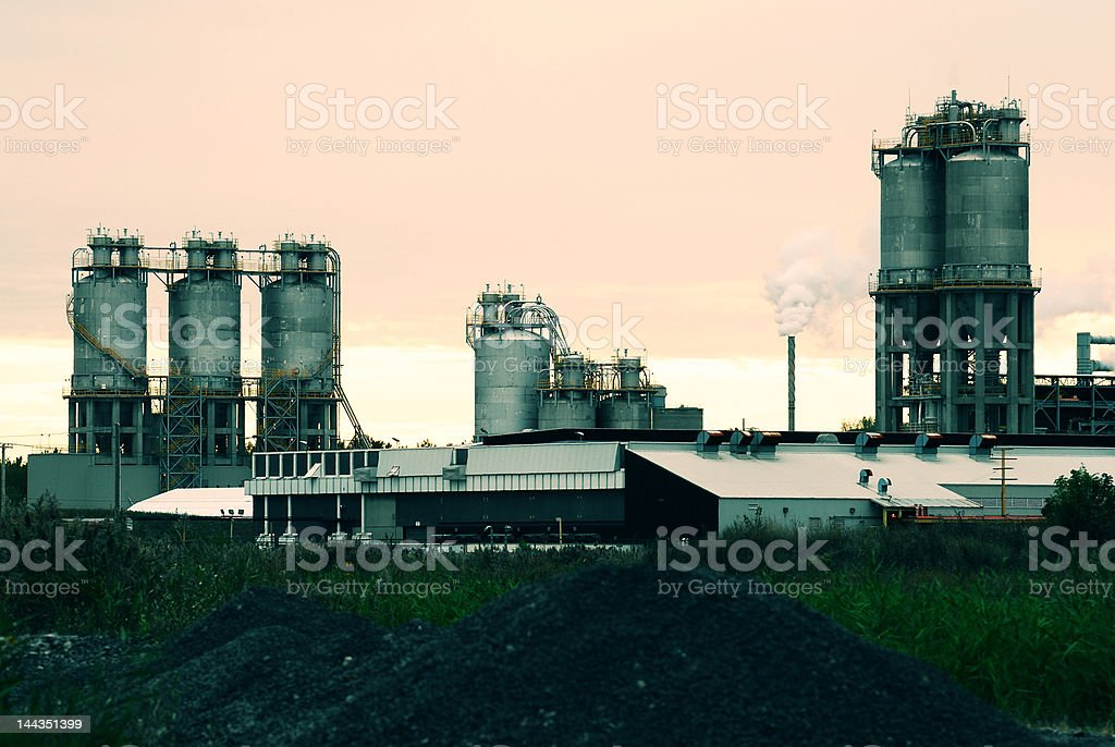 Refinery in Montreal royalty-free stock photo