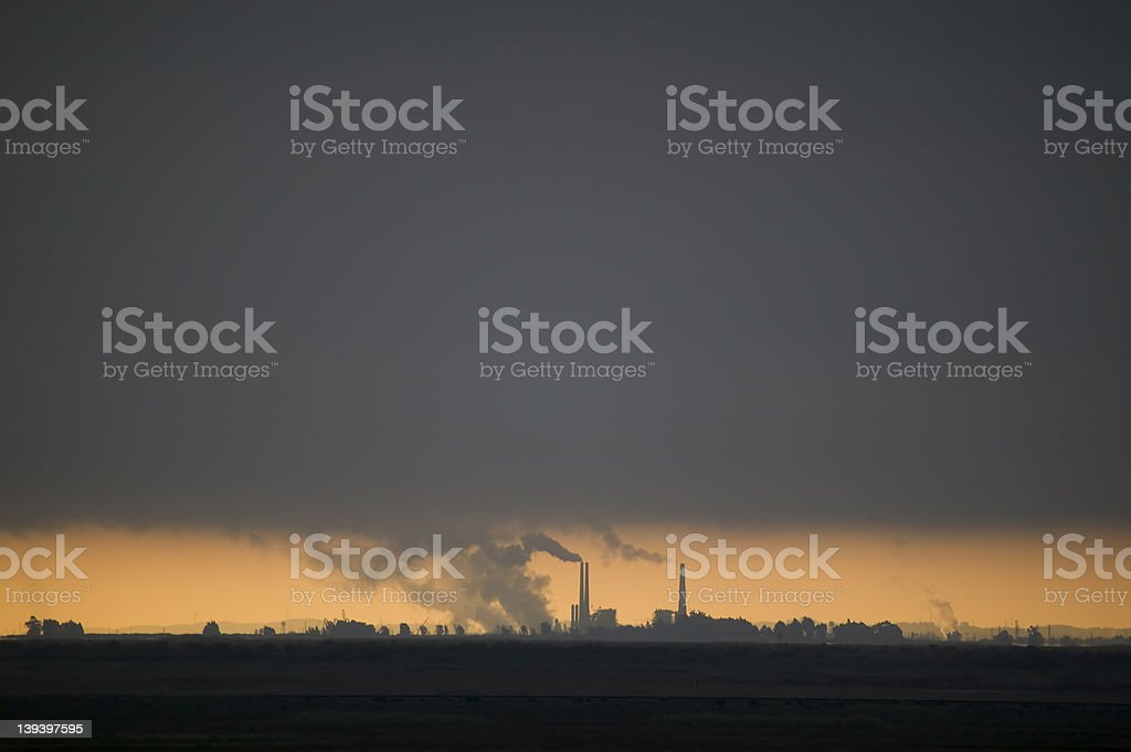 Refinery in the Central Valley royalty-free stock photo