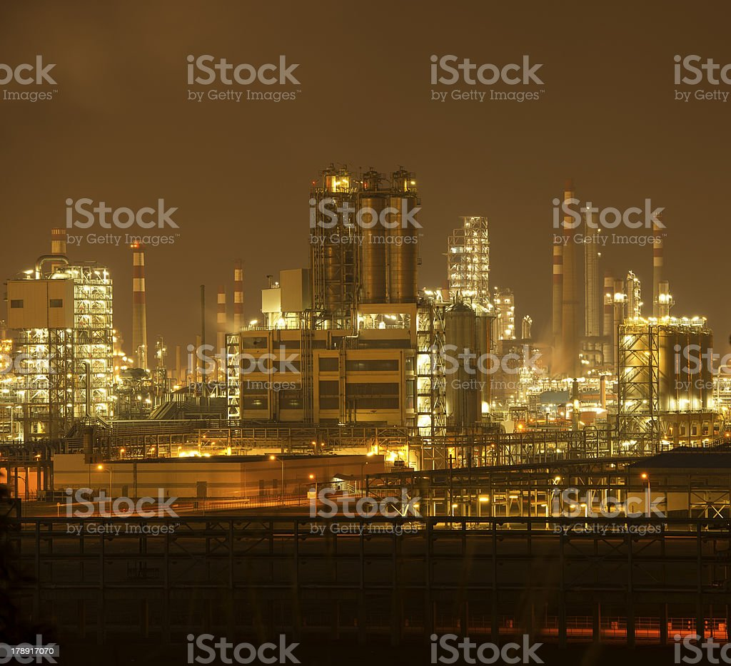 Refinery industrial plant with Industry boiler royalty-free stock photo