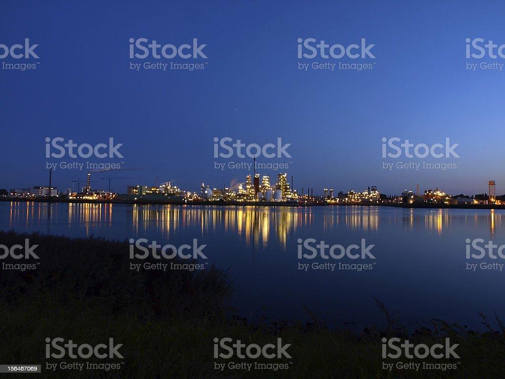 Refinery lights royalty-free stock photo