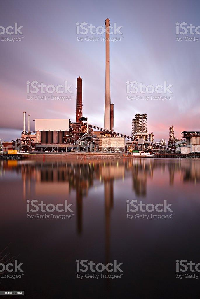 Refinery Long Exposure royalty-free stock photo