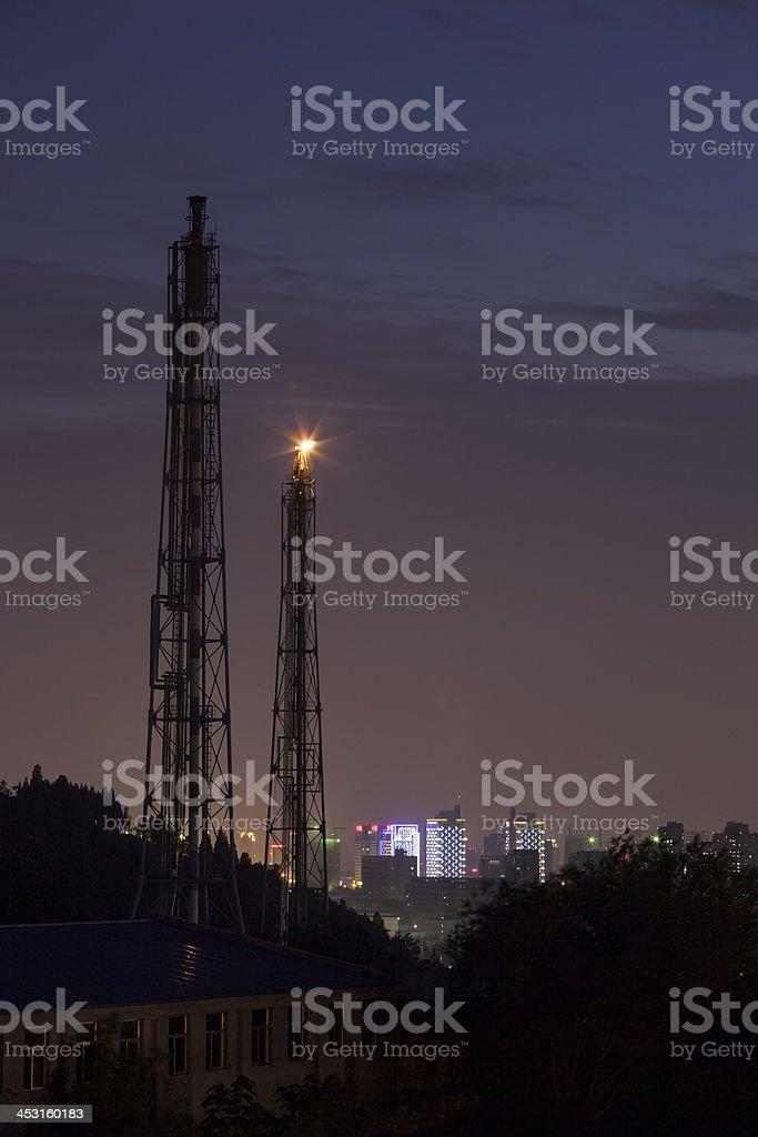 refinery nightshot royalty-free stock photo