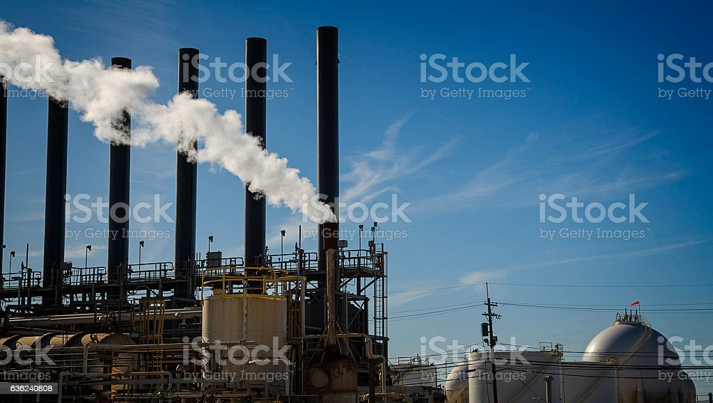 Refinery or Chemical Plant Heaters stock photo
