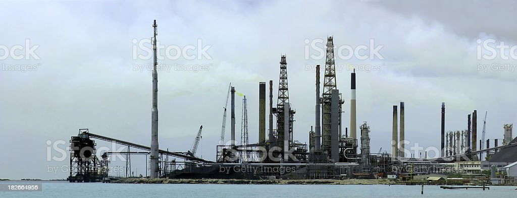 Refinery Panorama royalty-free stock photo