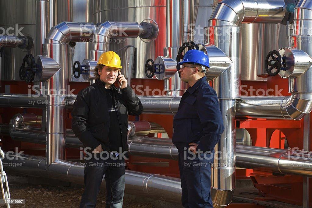 Refinery royalty-free stock photo