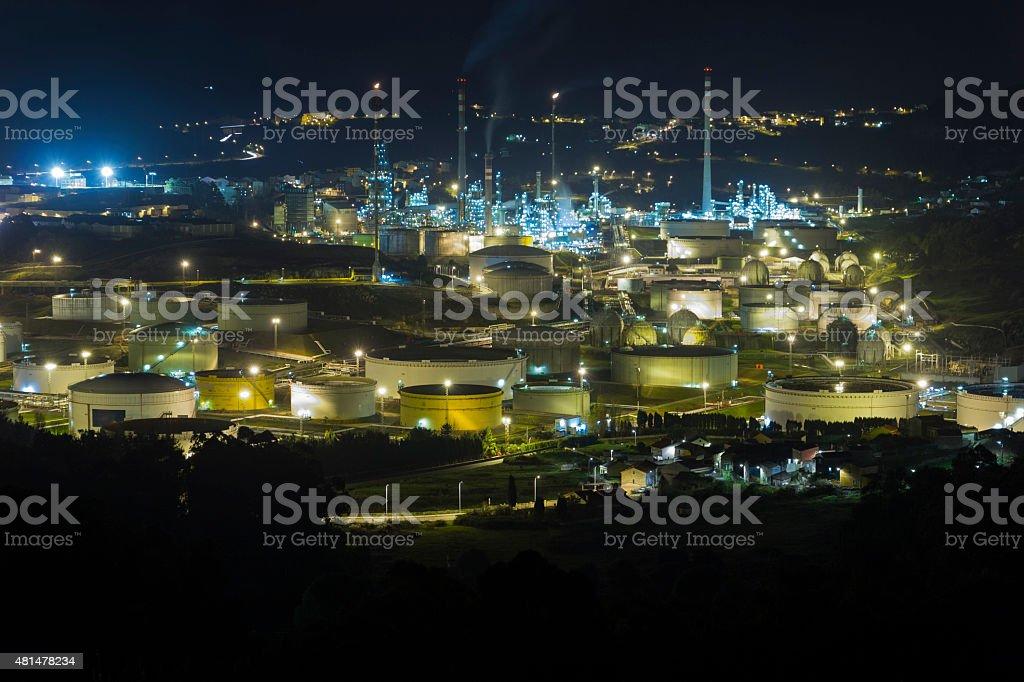 Refinery. stock photo