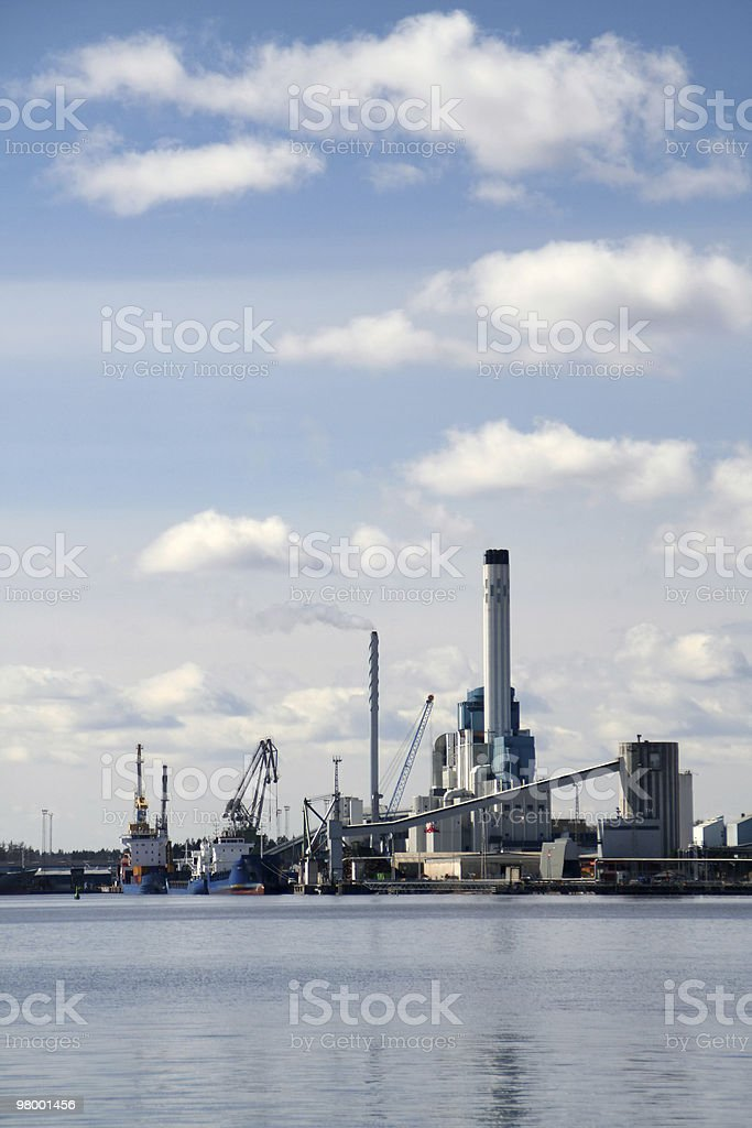 Refinery royalty-free stock photo