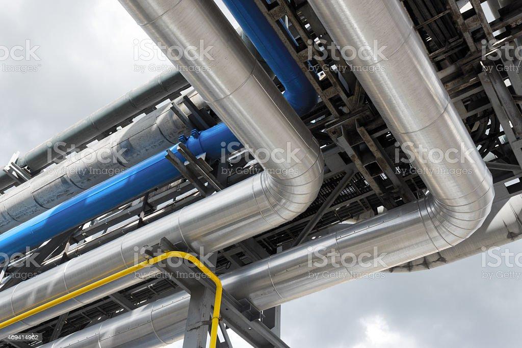 refinery pipeline stock photo