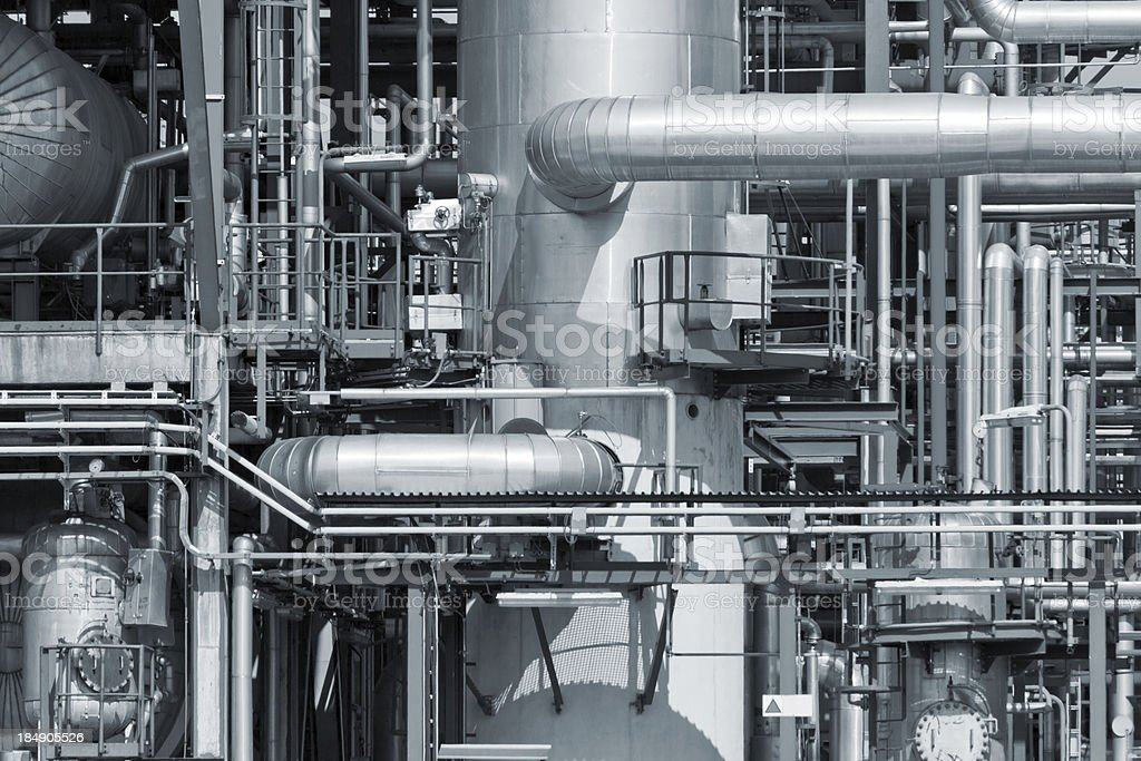 Refinery piping stock photo
