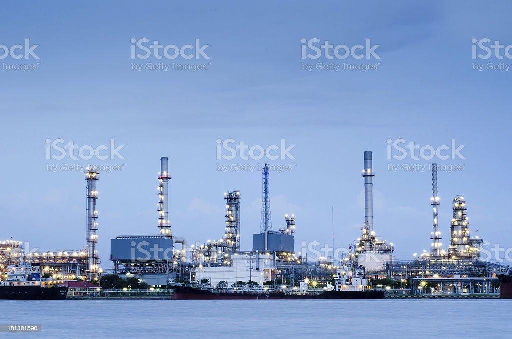 Refinery plant area in Bangkok royalty-free stock photo