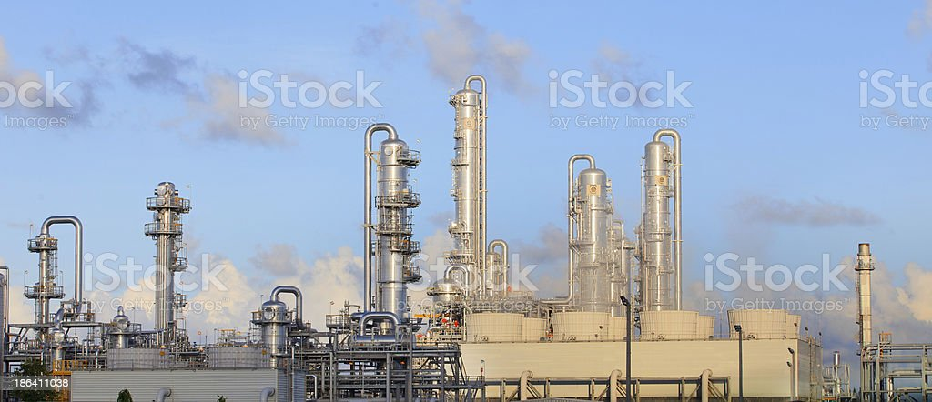 refinery plant in industry estate royalty-free stock photo