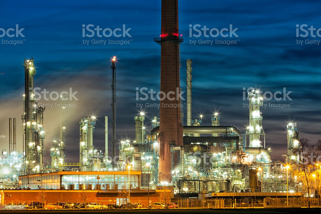 Refinery Plant of Petrochemical Industry stock photo