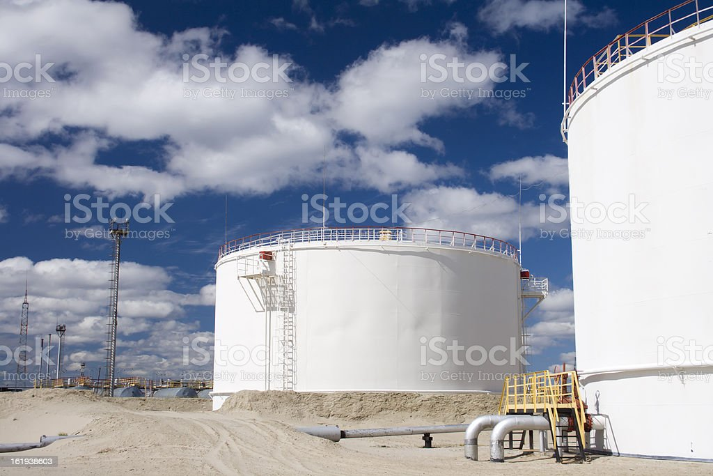 Refinery plant royalty-free stock photo