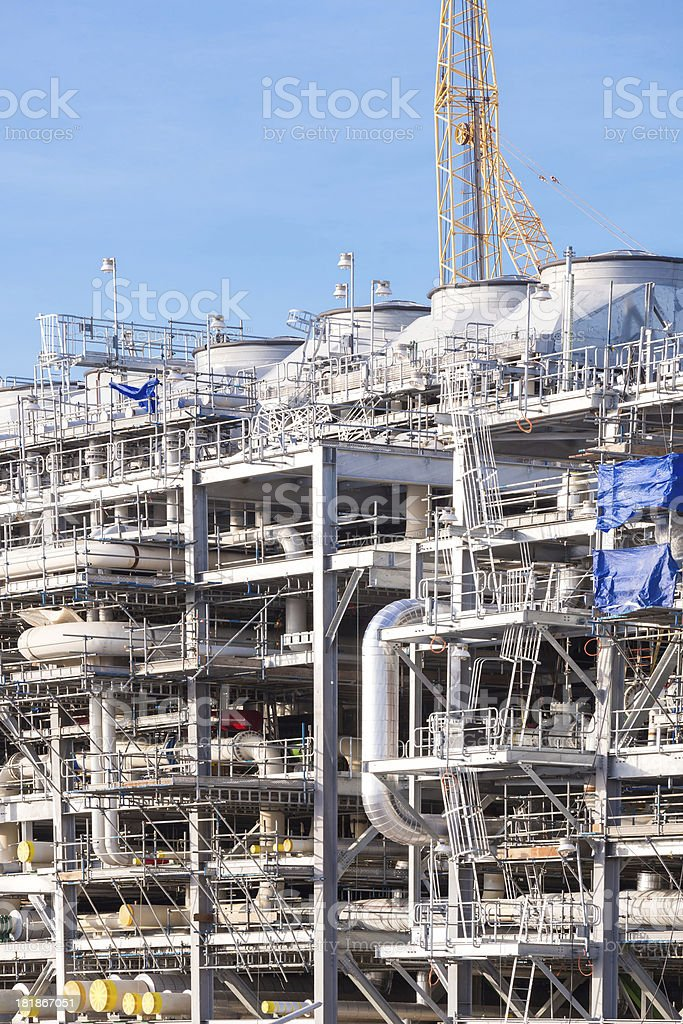 LNG Refinery Plant royalty-free stock photo