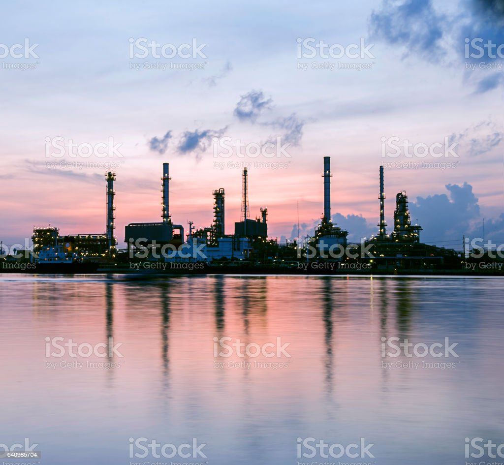 Refinery power plant, Thailand stock photo