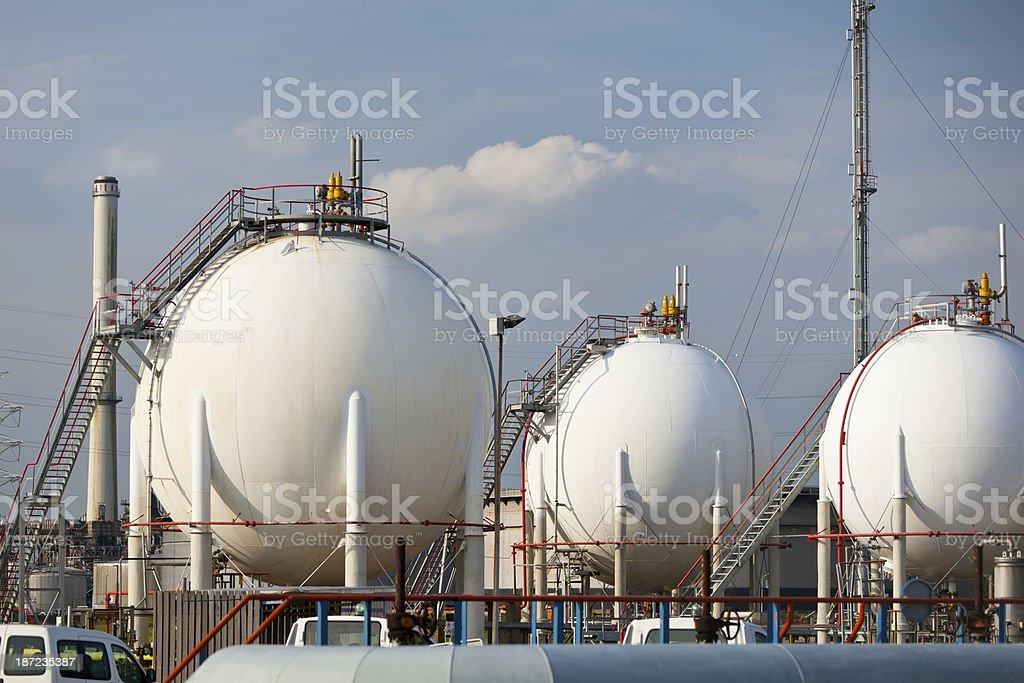Refinery Storage Tanks royalty-free stock photo