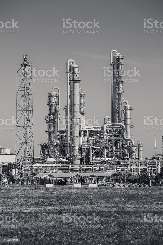 Refinery tower fo oil and refinery plant stock photo