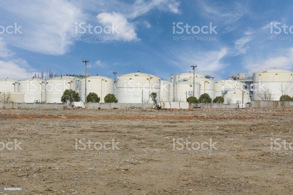 refinery,oil tank,shanghai,China. stock photo