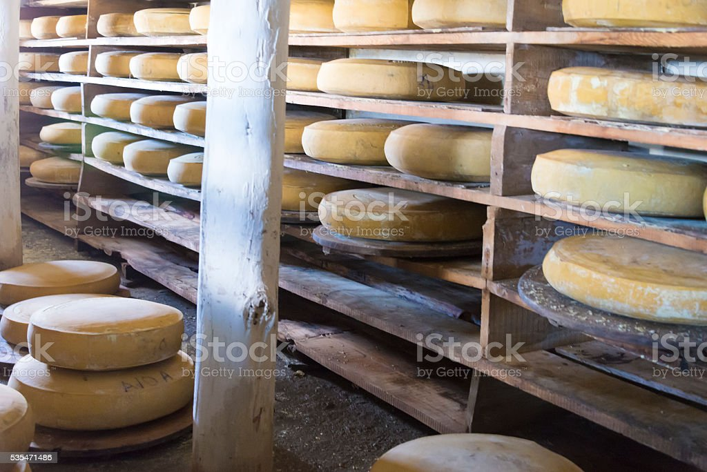 refining Gruyere cheese stock photo