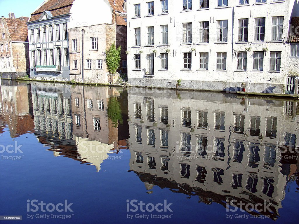 Reflected Buildings royalty-free stock photo