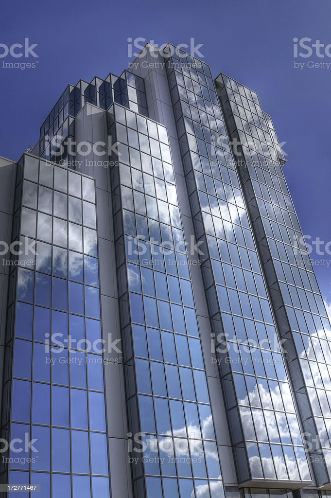 Reflected Clouds - Vertical royalty-free stock photo