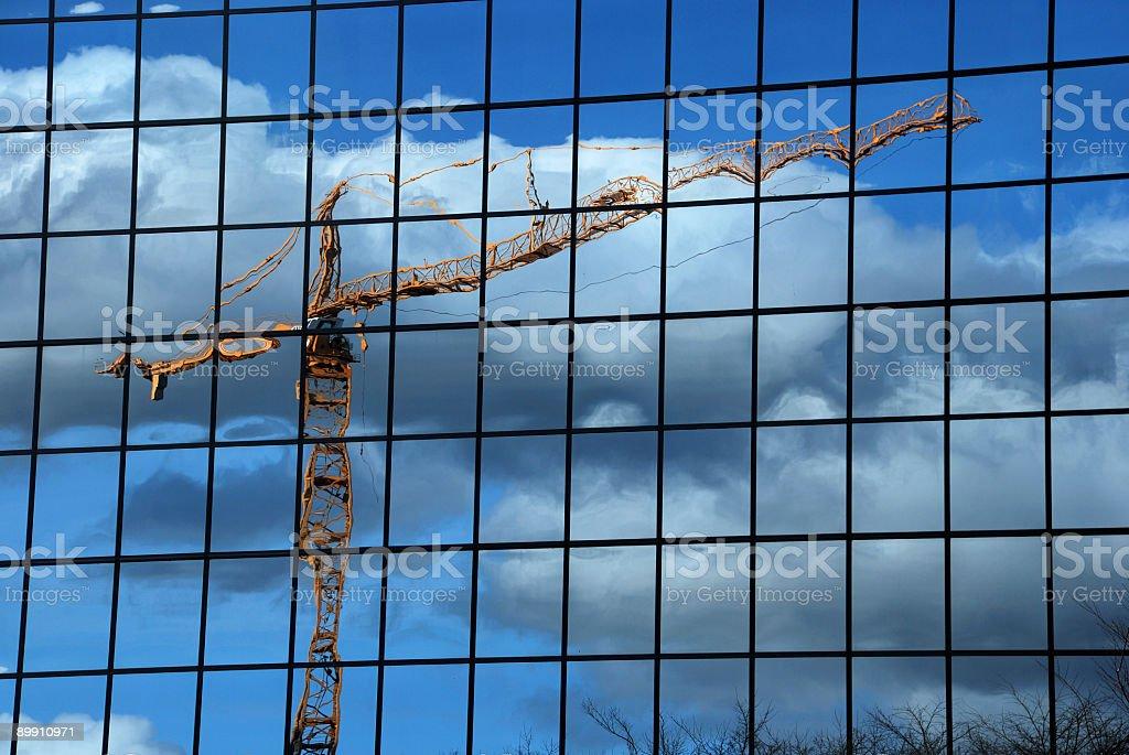 Reflected Crane stock photo