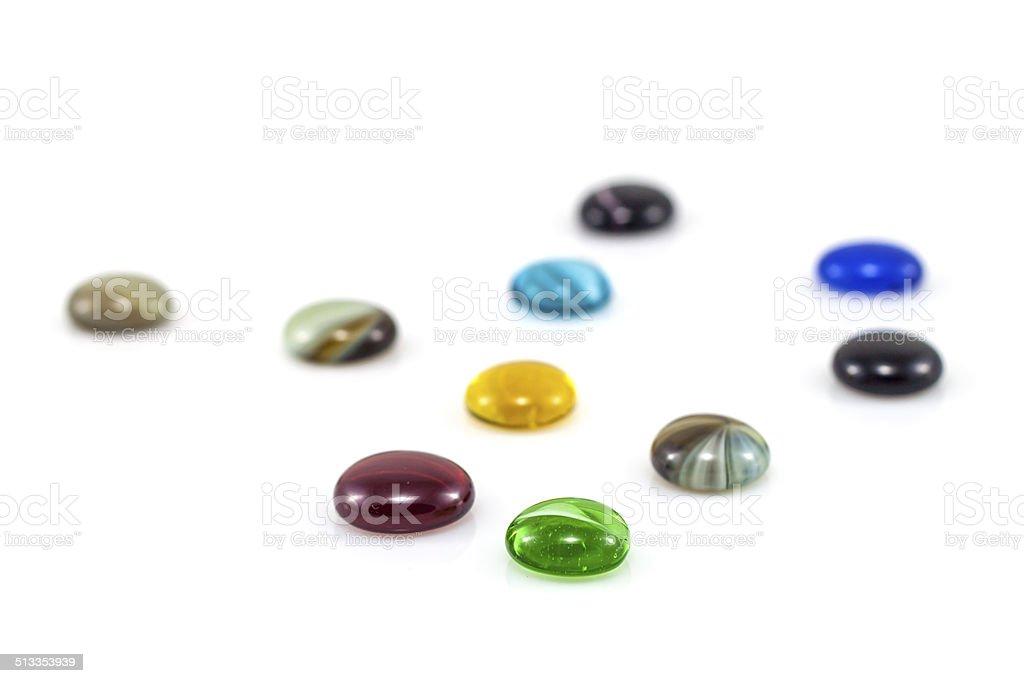 Reflected Gems stock photo
