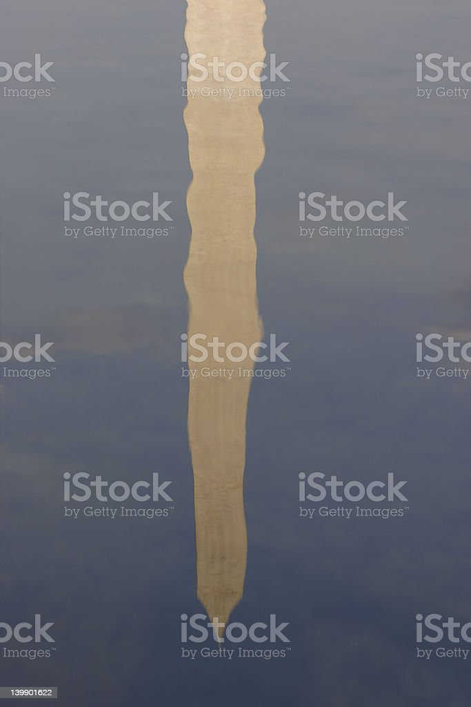 Reflected monument royalty-free stock photo