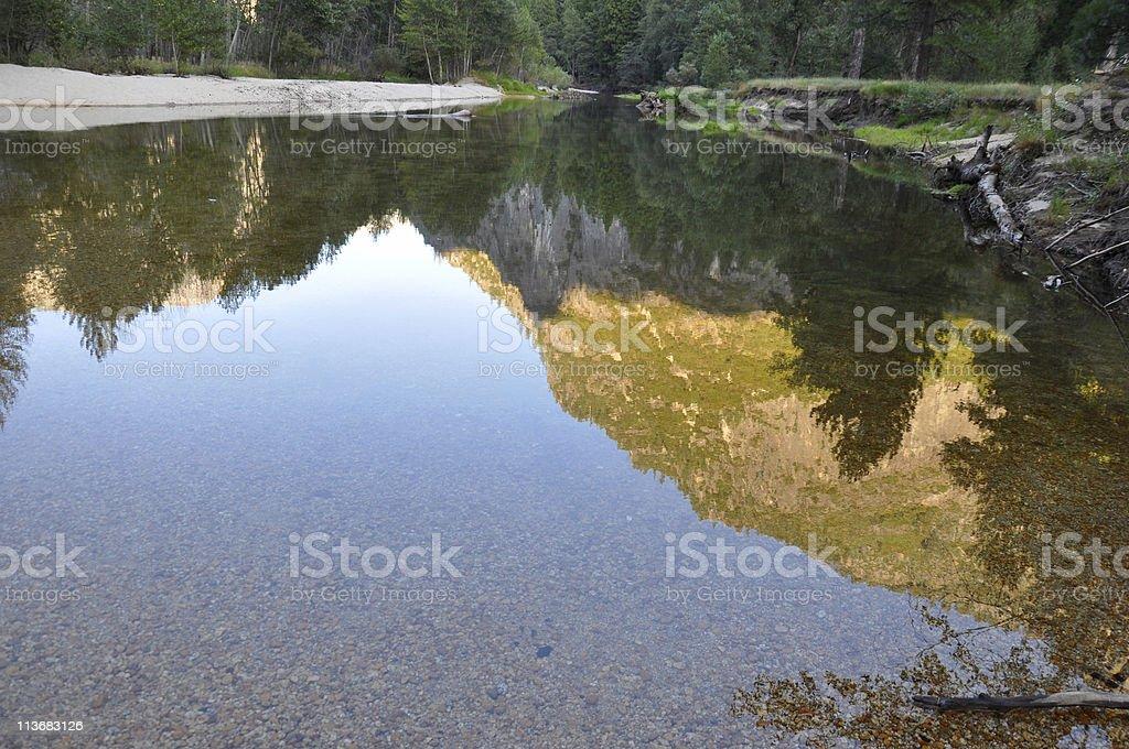 Reflected Mountain royalty-free stock photo