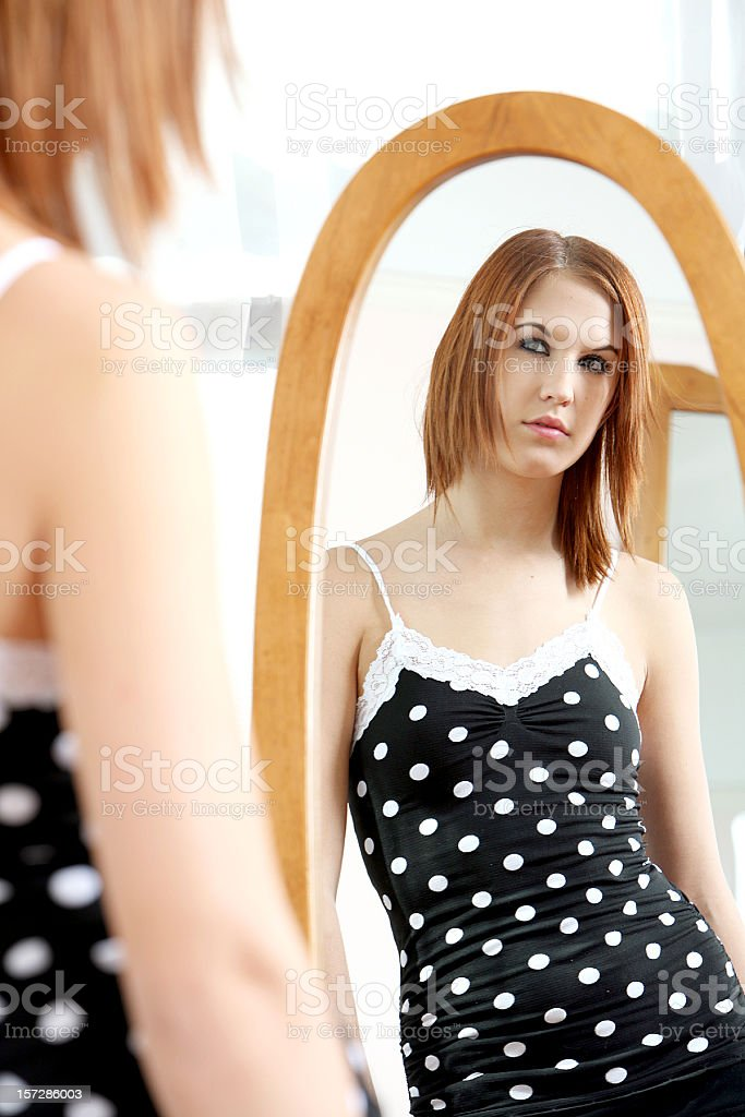 Reflected royalty-free stock photo