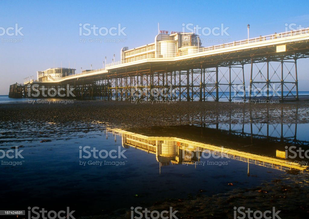 Reflected Pier stock photo