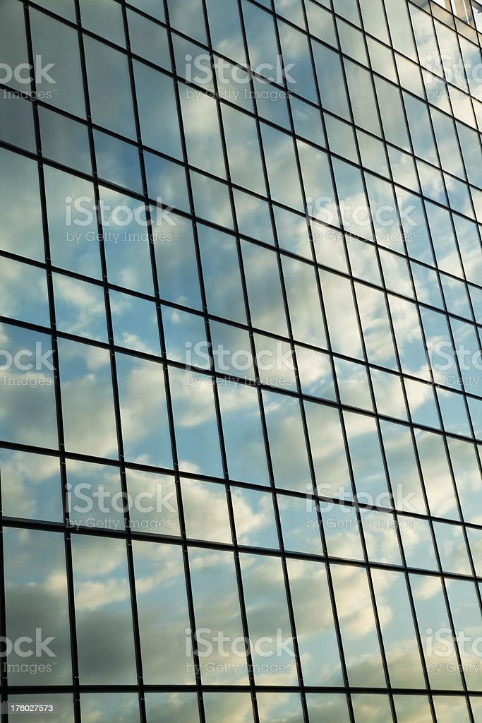 Reflected skyon building royalty-free stock photo