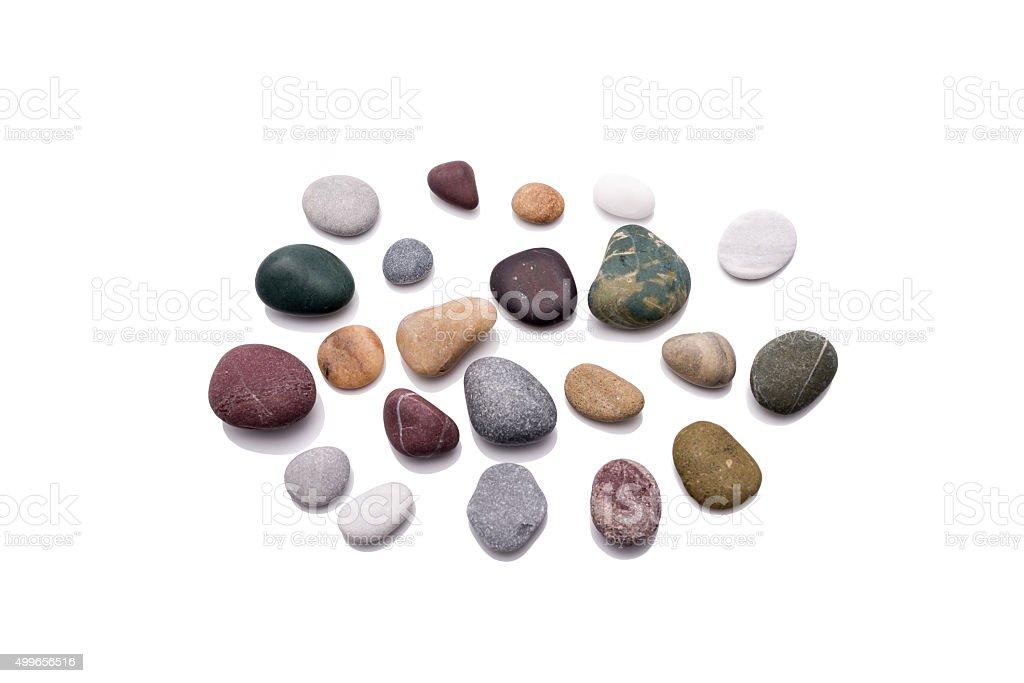Reflected stones. stock photo