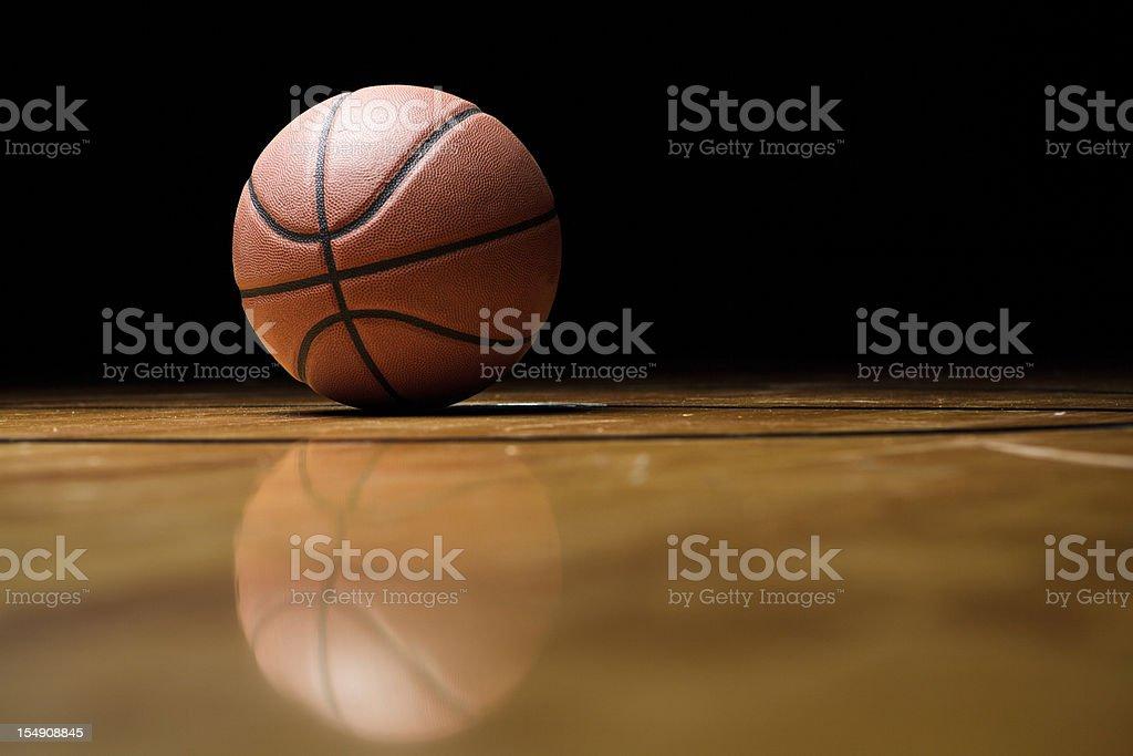 Reflecting Basketball stock photo