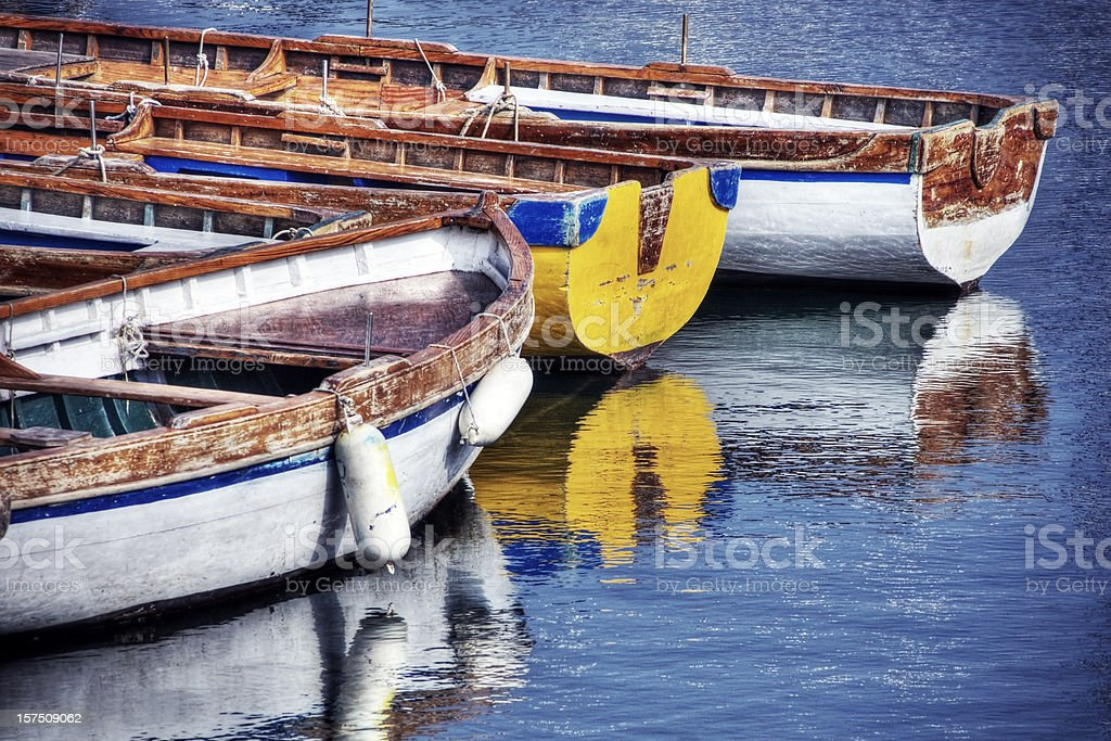 Reflecting Boats royalty-free stock photo