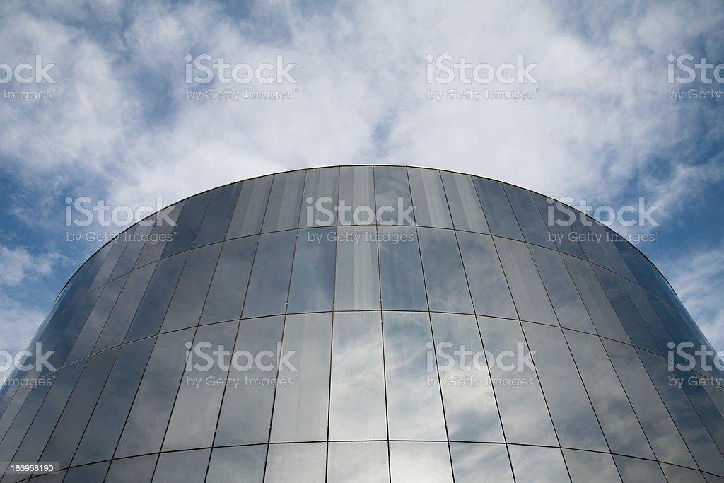 Reflecting building royalty-free stock photo