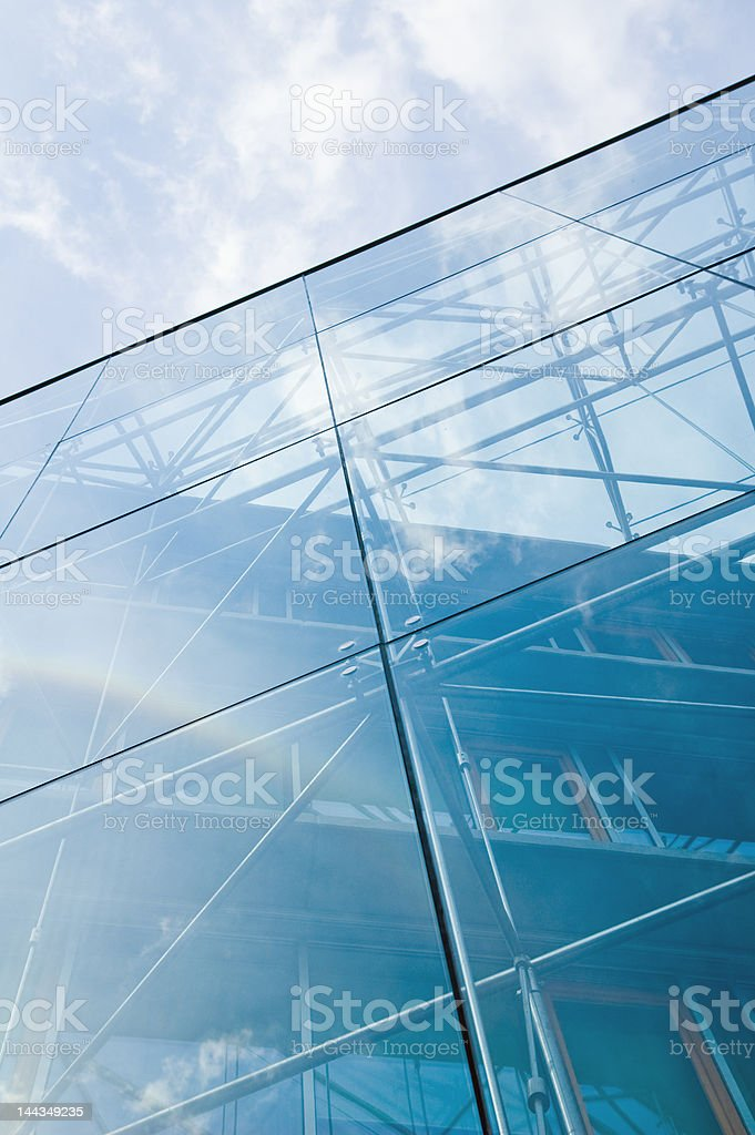 reflecting glass building royalty-free stock photo