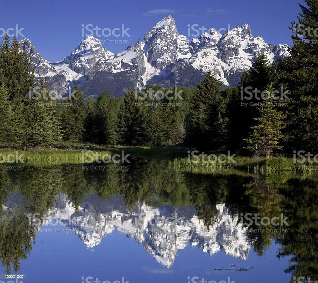 Reflecting Mountains stock photo