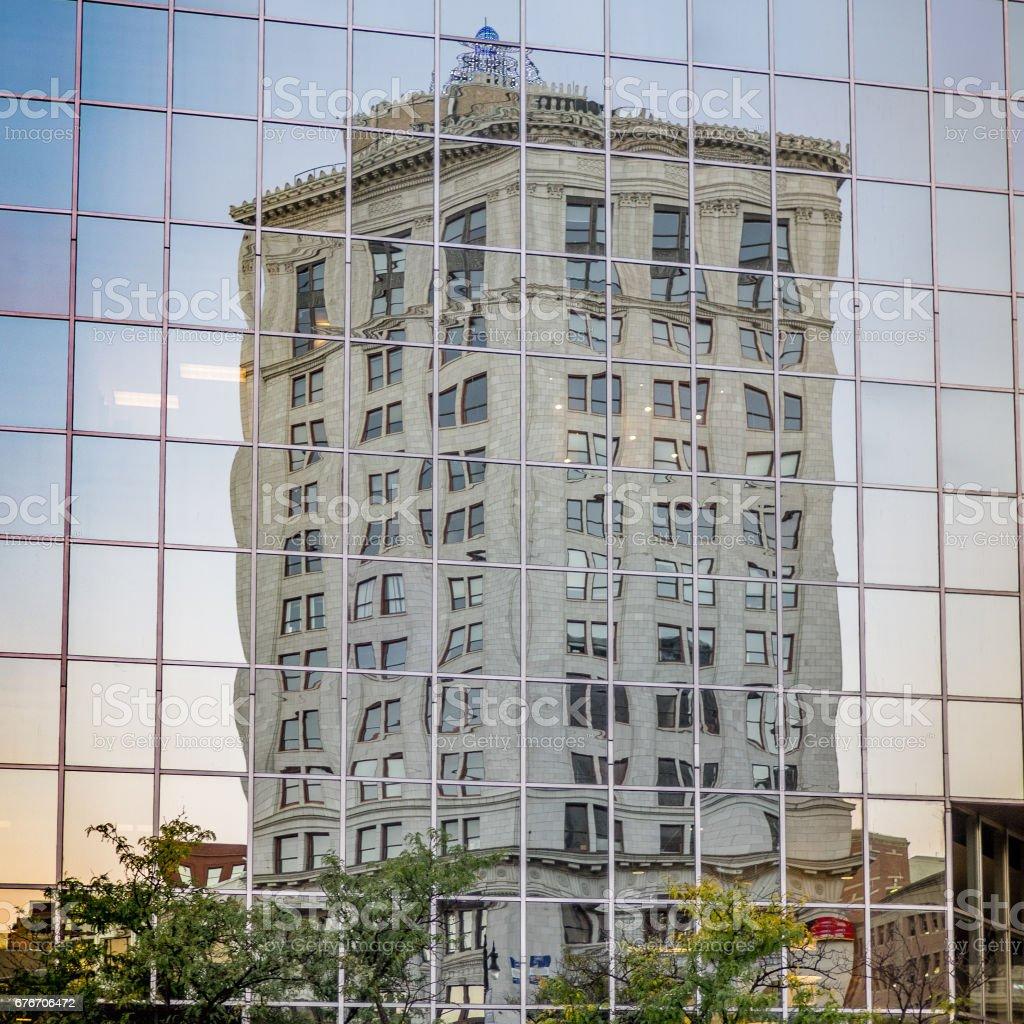 Reflecting on Grand Rapids stock photo