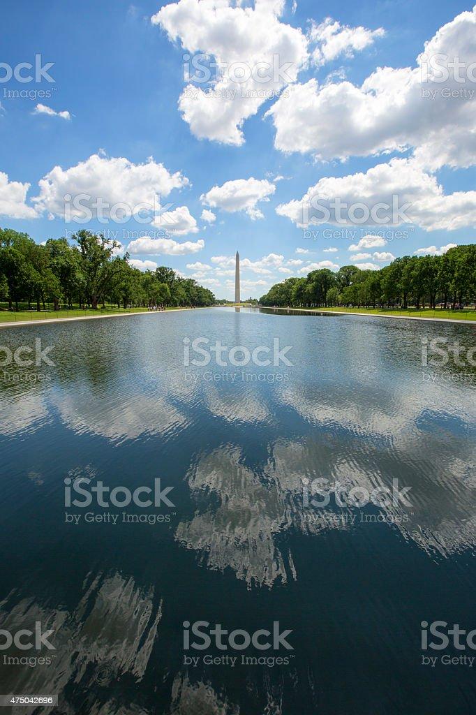 Reflecting Pool & Washington Monument. stock photo