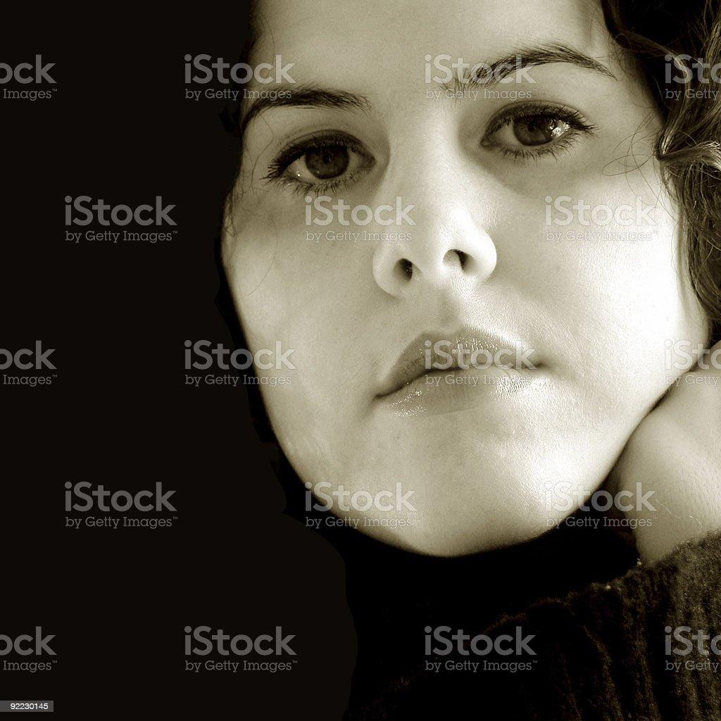 Reflecting Woman royalty-free stock photo