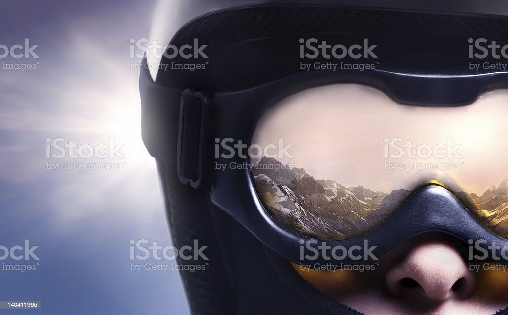 reflectio in glasses royalty-free stock photo
