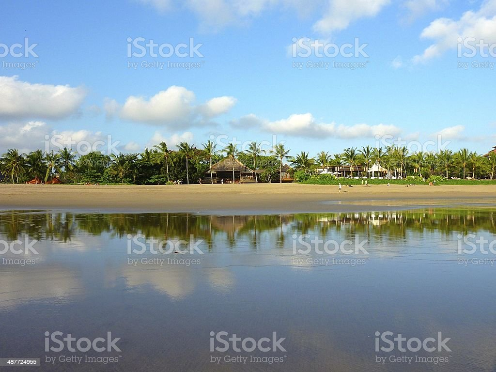 Reflection Beach in Seminyak royalty-free stock photo