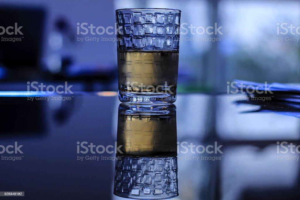 Reflection glass stock photo