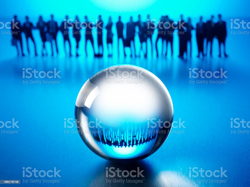 Reflection in a Crystal Ball royalty-free stock photo