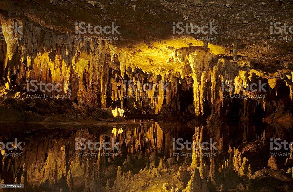 Reflection in Cave royalty-free stock photo